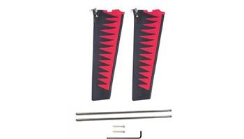 St-Turbo Fin Kit V2/G2 Red/Black