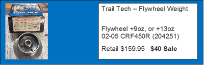 Trail Tech - Flywheel - Post