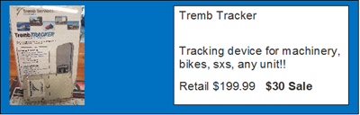 Tremb Tracker - Post