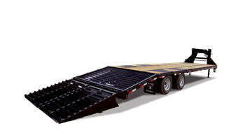 "2019 22GN-30BK+5MR  (102"" x 30' + 5' MEGA RAMPS) Heavy Duty Tandem Dual Wheel Gooseneck"