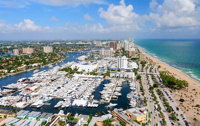 Harbor and Beach in Fort Lauderdale, Florida