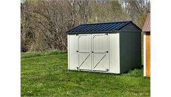 PAINTED UTILITY SHED WITH SIDE DOORS 8X10