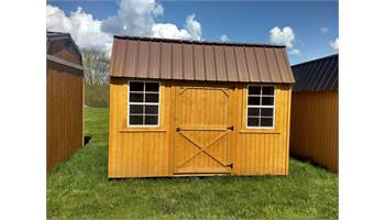 LOFTED BARN WITH SIDE DOOR PACKAGE 8X12
