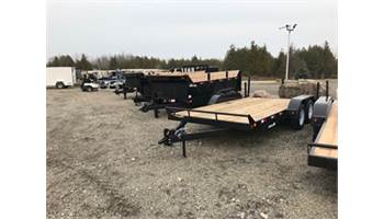 2019 CE718-7K 7x18 Equipment Trailer with Beaver Tail