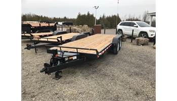 2019 7X20 Flat Deck Equipment Trailer With Beaver Tail CE720-14K