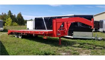2002 20+5 FLAT BED DECK OVER EQUIPMENT TRAILER
