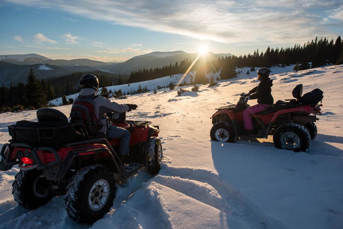 ATVs in Snow