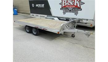 2017 ATV128-2-TR, 3 Place ATV Trailer w/ 2 ramps, Jack, Front Rail, and Stone Guard