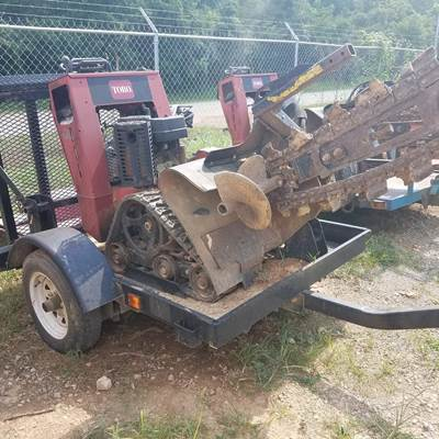 Toro trx-15 trencher placed with other trenchers