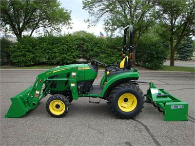 2032R with R4 Industrial Tires, 220R Loader & BB2060 Box Scraper