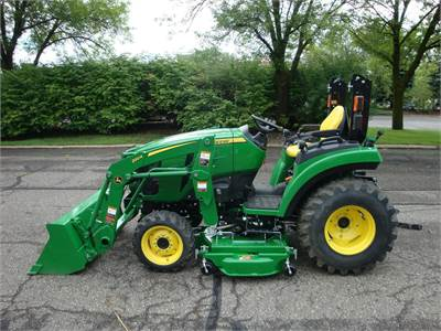 2038R with R4 industrial Tires, 220R Loader, 60D Mower Deck
