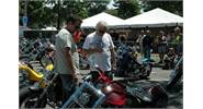 Arlen and Cory judging the Custom Bike Contest