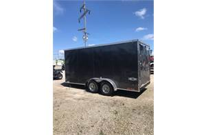 7' x 16' enclosed trailer with 6.5ft tall interior
