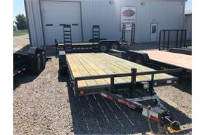 "83"" x 20' equipment trailer 10k 2ft dove fold up ramps"