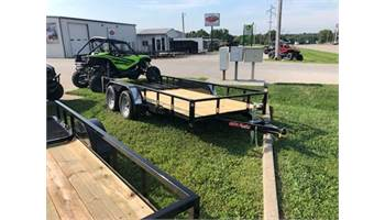 "2019 77"" x 14' double axle utility with trailer brakes and 4ft gate"