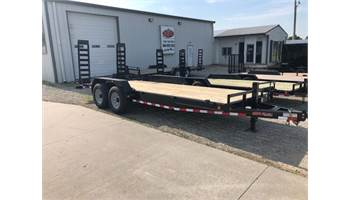 "2019 83"" x 20' 14k equipment trailer w/ 2ft dove tail and fold down ramps"