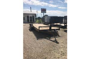 "83"" x 20' 14k equipment trailer with fold down ramps and 2ft dove tail"