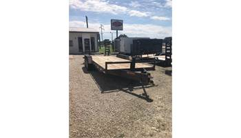 "2011 83"" x 20' 14k equipment trailer with fold down ramps and 2ft dove tail"