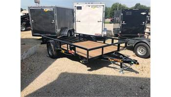 "2020 77"" x 12' utility trailer with ramp gate and spring assist"