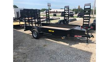"2020 66""x 12' solid side utility trailer with ramp gate. 3500lb axle"