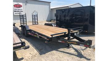 "2020 83"" x 20' 14k equipment trailer with fold down ramps."