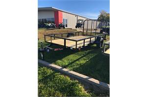 "77"" x 12' single axle utility trailer with ramp gate"