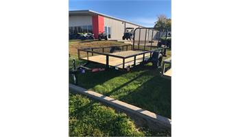 "2019 77"" x 12' single axle utility trailer with ramp gate"