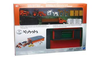 Farm Equipment Vehicles & Shed Set