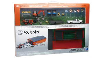 Construction Equipment Vehicles & Shed Set