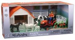 tractor with farm animal playset