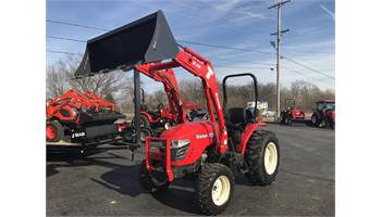 2019 3725H WITH BUCKET & PALLET FORKS.
