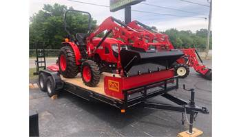 2019 30 HP 4X4 TRACTOR, LOADER, CUTTER, BOX BLADE & TRAILER