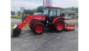 2019 78 HP CAB TRACTOR WITH CUTTER.