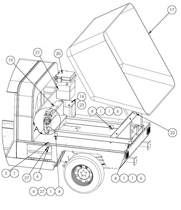 Dump box w/o tippper e-ride Industries Princeton, MN (800