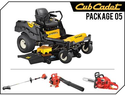 "2019 Cub Cadet Package 05, Z Force 60"", Trimmer, Blower, Chainsaw"