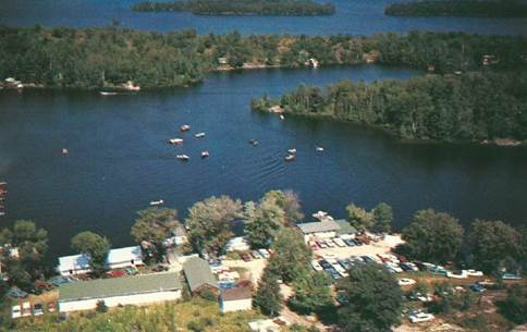 Campbell's Landing in 1965 - Post Card