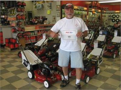 Winners of the Father Mows Best Contest