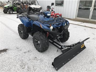 2019 Yamaha Grizzly 700 EPS SE with Moose Plow, Warn 3000LB Winch and Street Kit