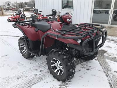 2019 Yamaha Grizzly 700 EPS with ATV Body Armour and Moose Utilities Heated Hand Grips