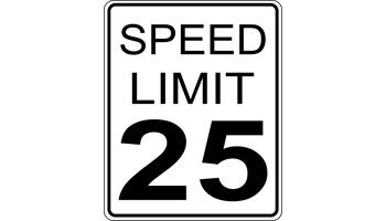 25 M.P.H. Speed Limit Sign