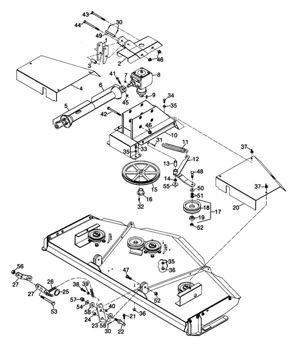Woods Finish Mower Parts Diagram : Woods rm rearmount finish mower mounting assembly