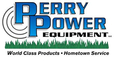 Perry Power logo with grass