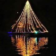 Christams Pontoon Boat