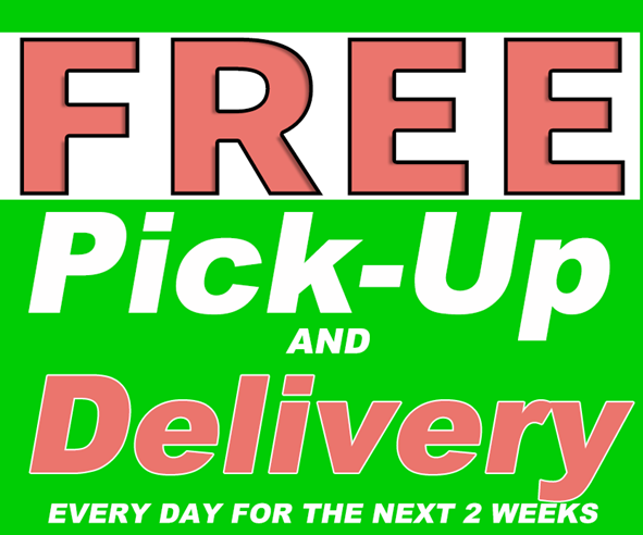 free pickup and delivery - EASTER