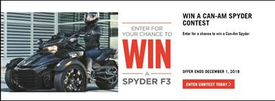 Win a Can-Am Spyder