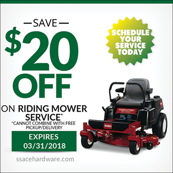 Riding Mower Service Coupon