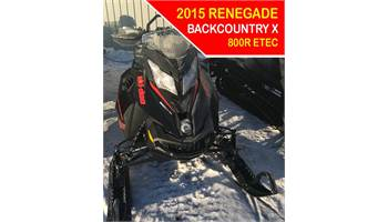 2015 Renegade Back CountryX 800R E-TEC