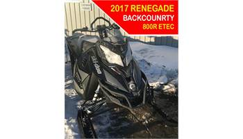 2017 Renegade Back Country 800 E-TEC
