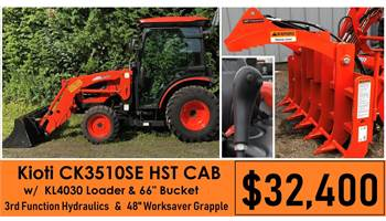 Package Deal #11 - CK3510SE HST Cab w/ Loader & 3rd Function & Worksaver 48 Grapple