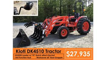"Package Deal #12 - DK4510 w/ Loader & 3rd Function & Worksaver 60"" Grapple"